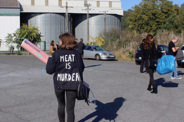 Hommage aux victimes de l'abattoir de Lusignan